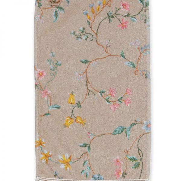 Πετσέτα Χεριών Pip Studio Les Fleurs Khaki Cotton 30x50cm