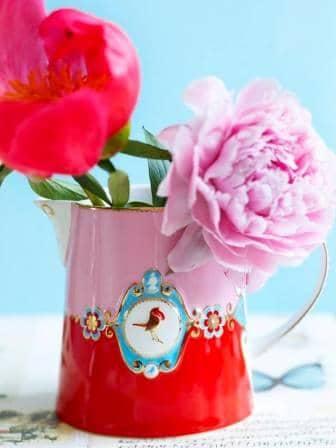 Κανάτα Πορσελάνης Pip Studio Love Birds Medallion Red-Pink 900ml