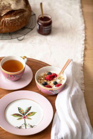 Πιάτο Φρούτου Πορσελάνης Pip Studio La Majorelle Pink 21cm
