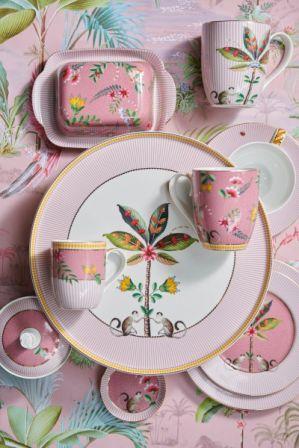 Πιάτο Βαθύ Πορσελάνης Pip Studio La Majorelle Pink 21,5cm