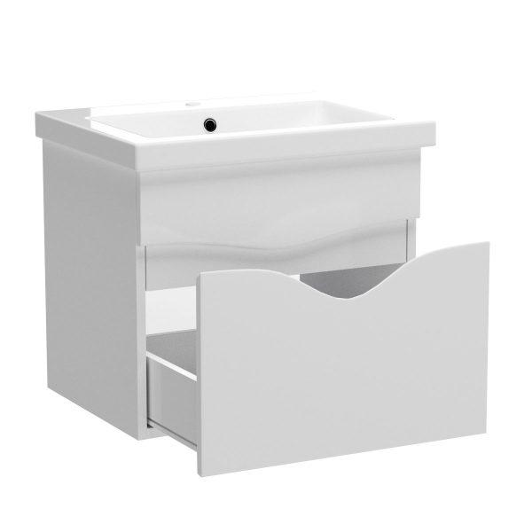 Έπιπλο Μπάνιου με Νιπτήρα SMILE Κρεμαστό 60x45x53εκ