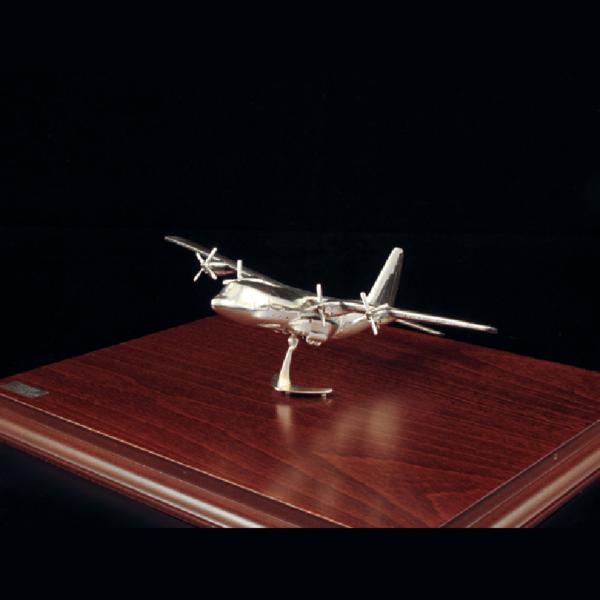 Ασημένια Μινιατούρα Αεροπλάνο C130 19x15x10cm