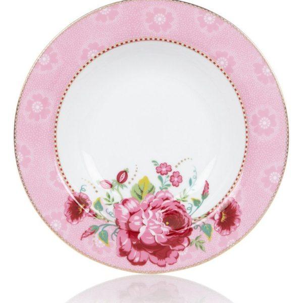 Πιάτο Σούπας Πορσελάνης Pip Studio Rose Pink 21,5cm