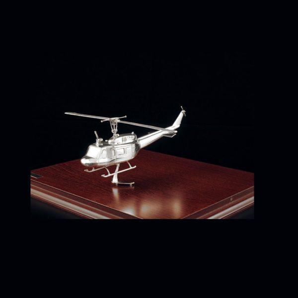 Ασημένια Μινιατούρα Ελικόπτερο UH1 28x24x14 cm