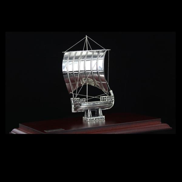 Ασημένια Μινιατούρα Πλοίο της Κυρήνειας 23x12x17cm