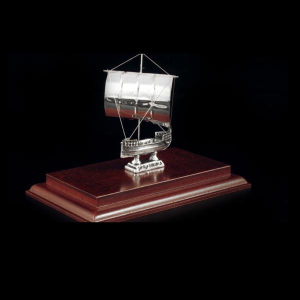 Ασημένια Μινιατούρα Πλοίο της Κυρήνειας 15x9x12cm
