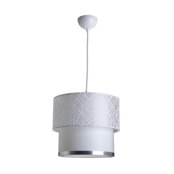 Inart Φωτιστικό Οροφής Λευκό-Ελεφαντόδοντο    Πλαστικό 30x30x25 cm
