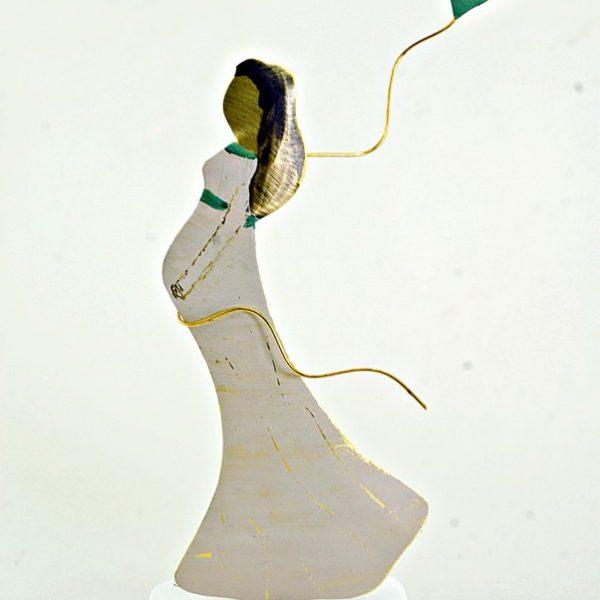Χειροποίητο Αγαλματάκι Γυναίκα Εγκυμοσύνη από Ορείχαλκο 5x13 cm