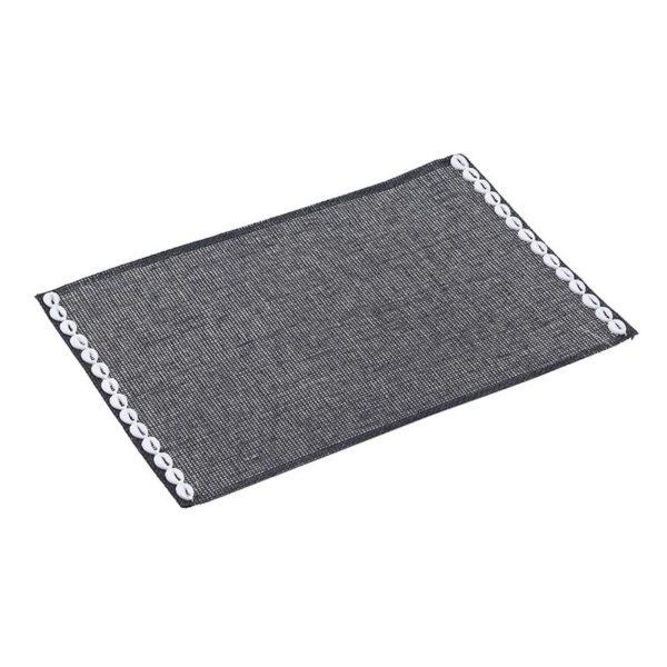 Inart Σουπλά Σετ Των 6 Μαύρο 45x30x1 cm