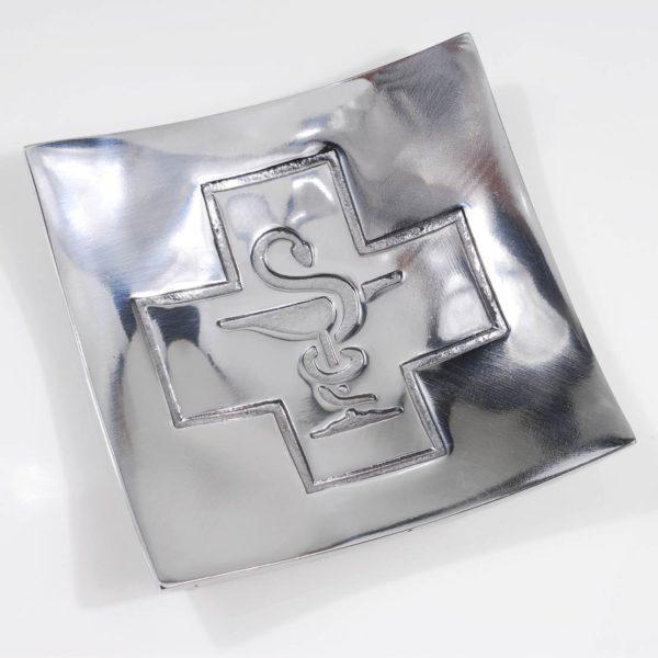 Πιάτο Για Ρέστα Φαρμακείου Από Αλουμίνιο 14,9x14,9x2,9 cm