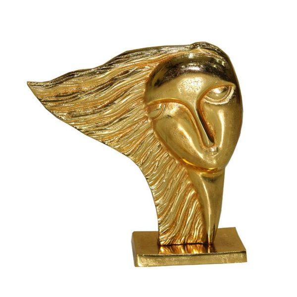 Inart Επιτραπέζιο Διακοσμητικό Χρυσό Σίδερο 30x10x30 cm