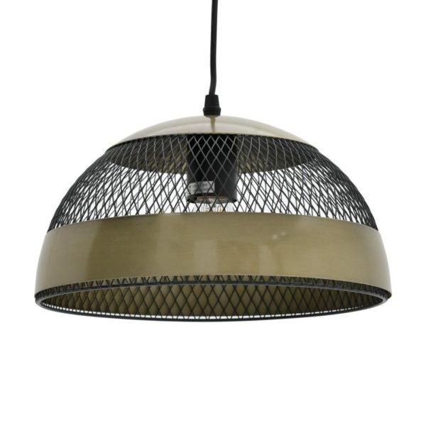 Inart Φωτιστικό Οροφής Χρυσό,Μαύρο Σίδερο 30x30x18 cm