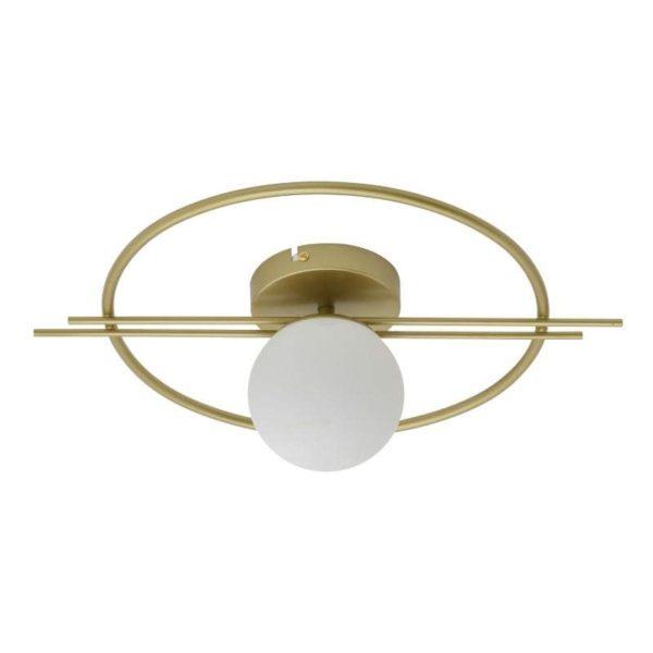 Inart Απλίκα Χρυσό,Λευκό-Ελεφαντόδοντο Σίδερο 35x15x40 cm