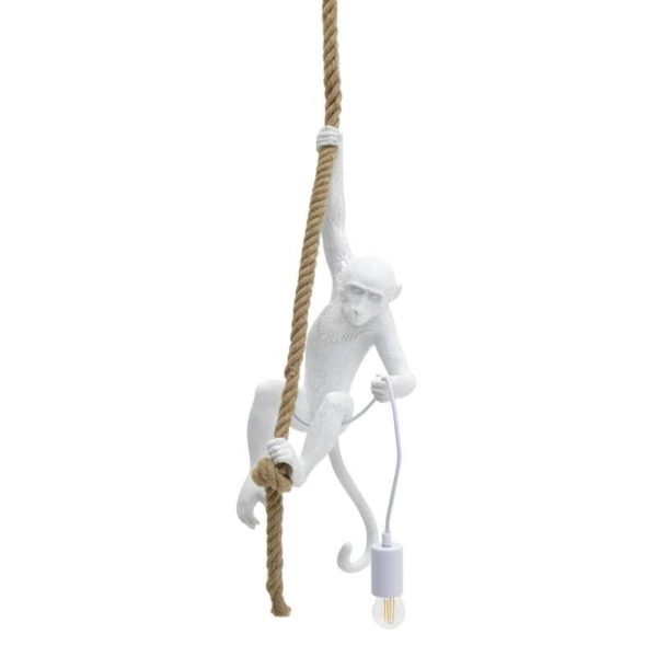 Inart Φωτιστικό Οροφής Λευκό-Ελεφαντόδοντο 35x35x72 cm