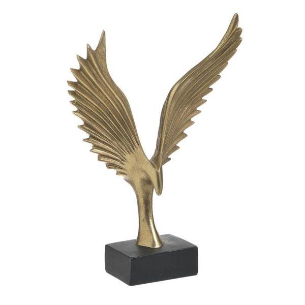 Inart Επιτραπέζιο Διακοσμητικό Χρυσό,Μαύρο    Πολυρεσίνη 22.5x10x31.2 cm