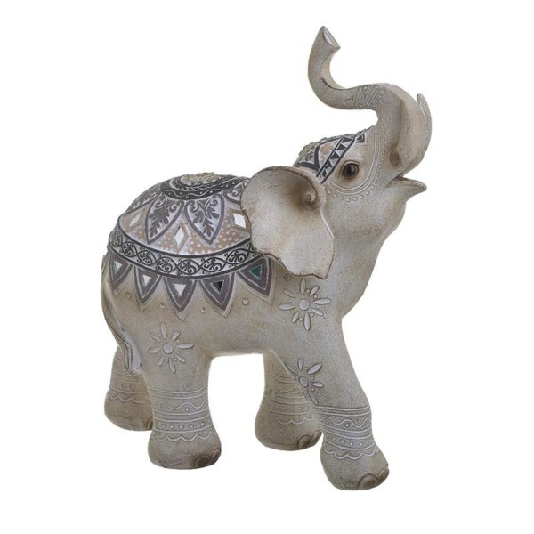 Inart Διακοσμητικός Ελέφαντας Φυσικό μπεζ    Πολυρεσίνη 22x9x25 cm