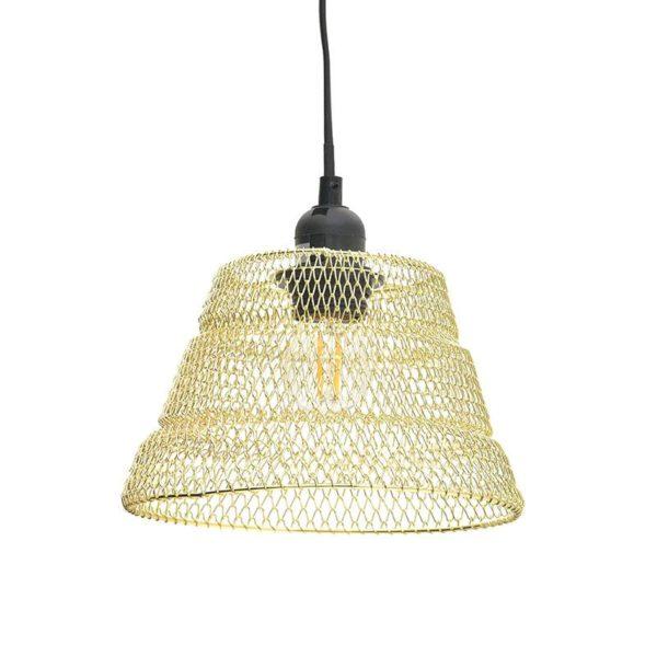 Inart Φωτιστικό Οροφής Χρυσό Σίδερο 16x16x110 cm