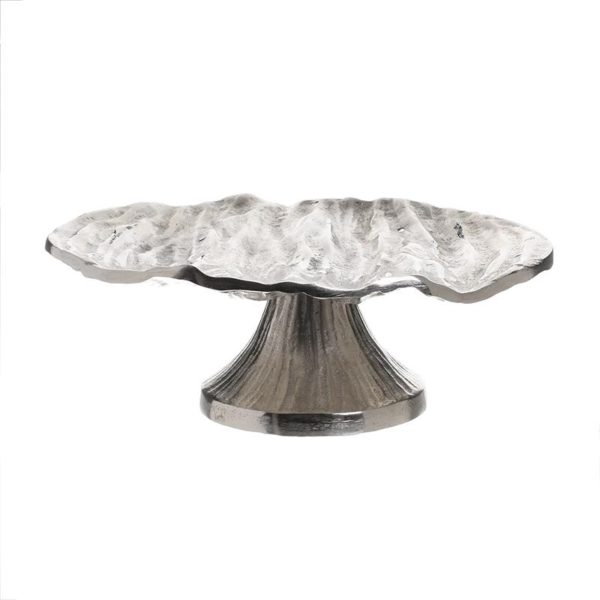 Inart Τουρτιέρα Ασήμι Αλουμίνιο 26x26x9 cm