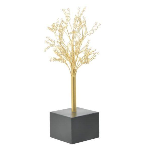Inart Επιτραπέζιο Διακοσμητικό Χρυσό,Μαύρο Σίδερο MDF 26x23x50 cm