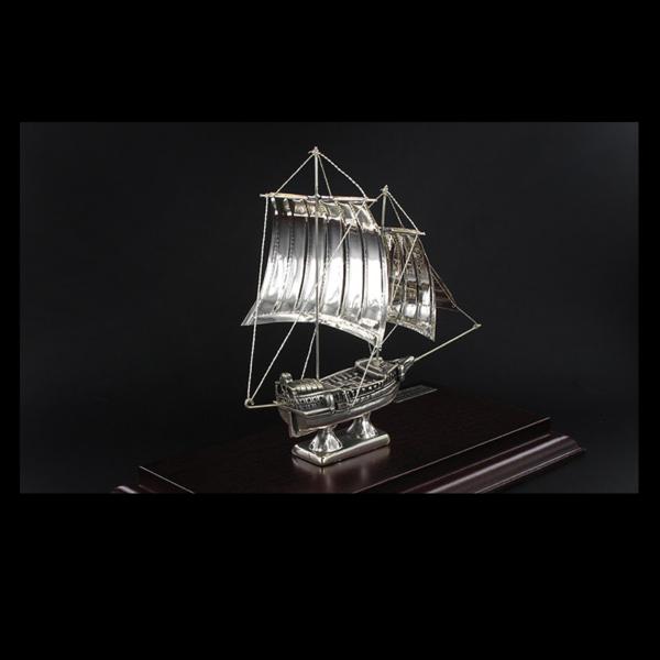 Ασημένια Μινιατούρα Ιστιοφόρο Gallion 19x9x15 cm
