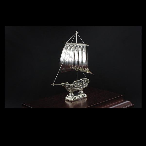 Ασημένια Μινιατούρα Ιστιοφόρο Santa Maria 15x9x12,5 cm