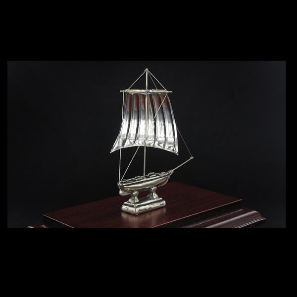 Ασημένια Μινιατούρα Ιστιοφόρο Cutty Sark 15x9x12 cm