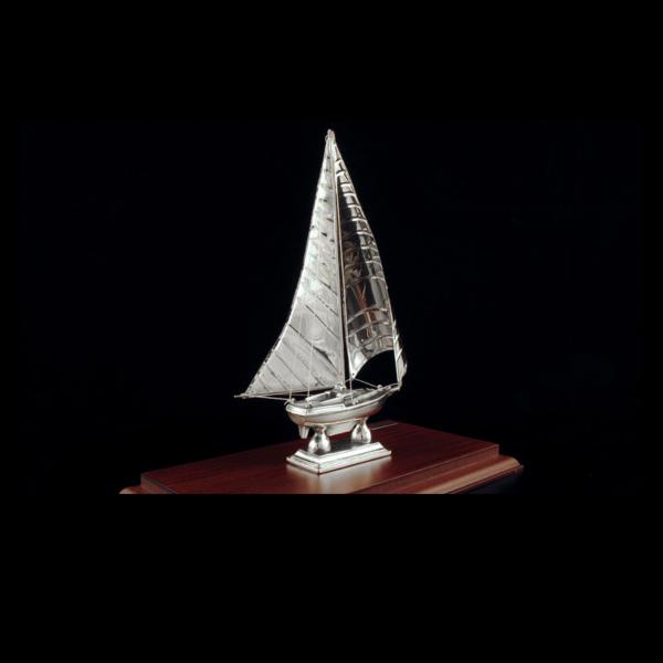 Ασημένια Μινιατούρα Ιστιοπλοϊκό 20x10x21 cm