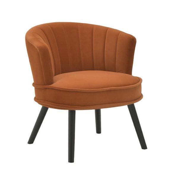 Inart Πολυθρόνα Κίτρινο-πορτοκαλί Σίδερο Κόντρα πλακέ Συνθετικό / ΠΟΛΥΕΣΤΕΡ 70x68x73 cm