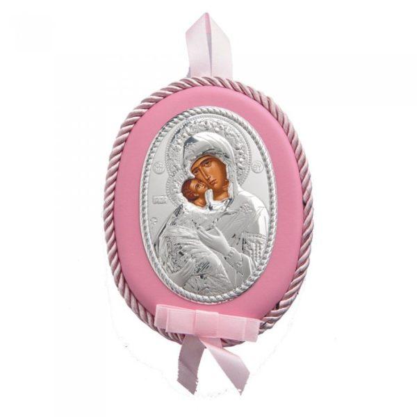 Διακοσμητική Εικόνα Παναγία Prince Silvero Ροζ 13cm