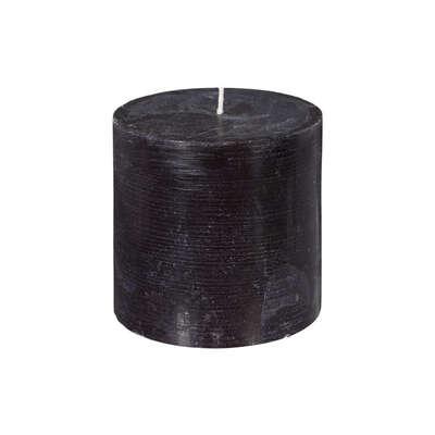 Στρογγυλό Κερί Μαύρο Rustic 57H 10x10cm
