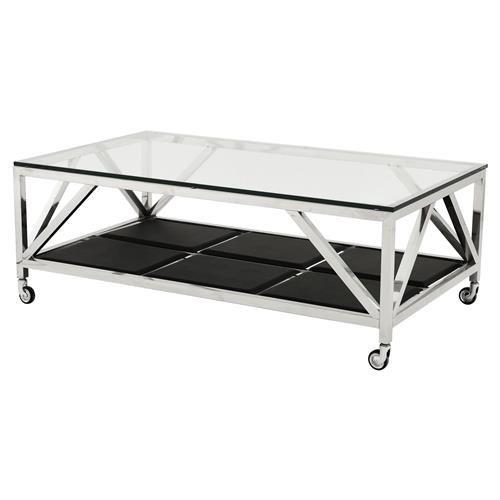 Τραπέζι Σαλονιού Eichholtz Μέταλλο-Γυαλί 140x80x50 cm