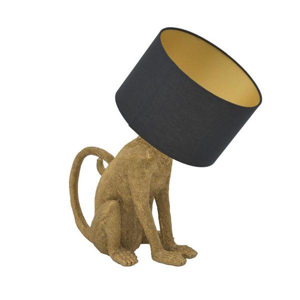 Inart Επιτραπέζιο Φωτιστικό Χρυσό,Μαύρο   Συνθετικό / ΠΟΛΥΕΣΤΕΡ Πολυρεσίνη 43x30x60 cm