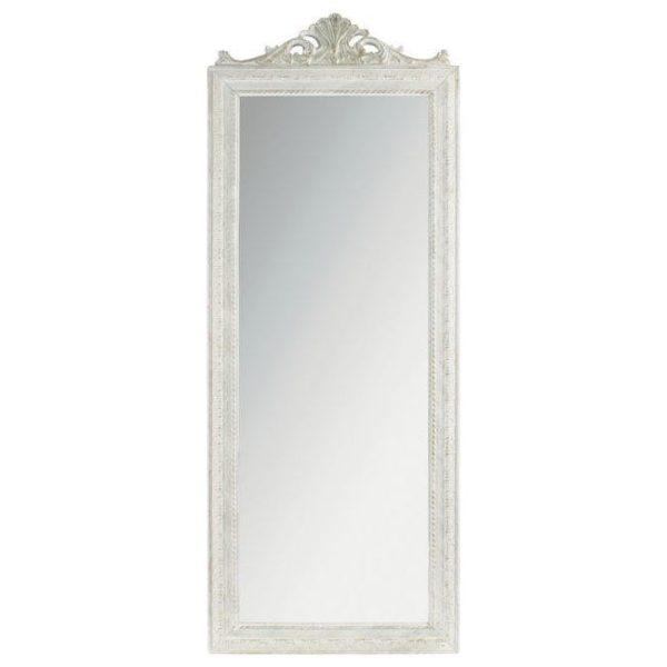 Επιτοίχιος Καθρέπτης Λευκός-Χρυσός Polyresin 130x50x2cm