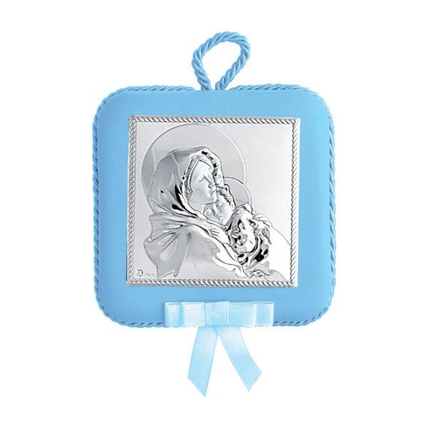 Διακοσμητική Τετράγωνη Εικόνα Παναγία Prince Silvero Μπλε 10,5x10,5 cm
