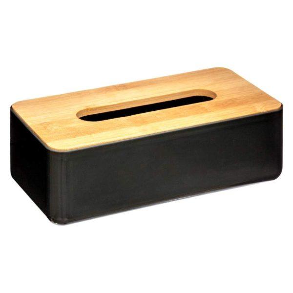 Κουτί για Χαρτομάντιλα Natureo Μαύρο 26x13,2x8,8 cm