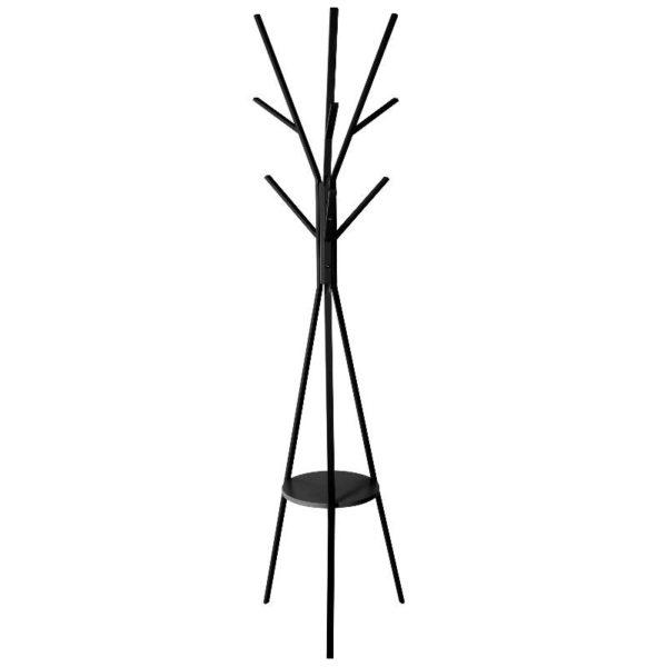 Καλόγερος Μέταλλο/MDF Μαύρο 44x42x180 cm