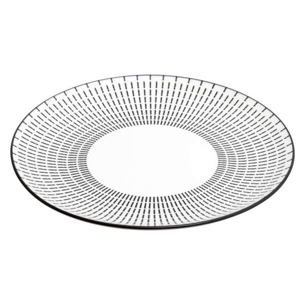 Πιάτα Πορσελάνης Lunis Black Σετ 18 - 26,5x2,70 cm, 20,3x4,2 cm, 19x2 cm