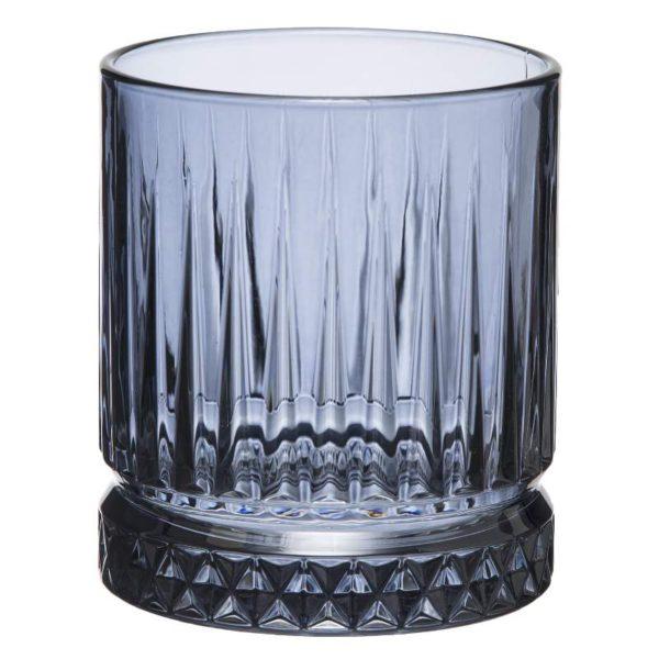 Ποτήρια Ουίσκι Γυάλινα Elysia Blue Σετ 4 - 8,4x9,8 cm