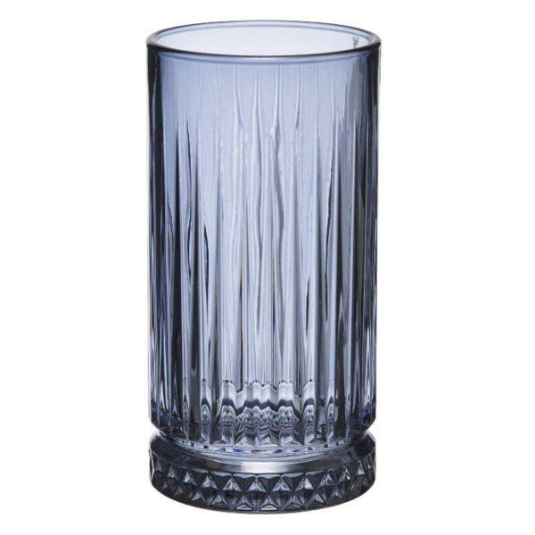 Ποτήρια Νερού Γυάλινα Elysia Blue Σετ 4 - 7,4x15 cm