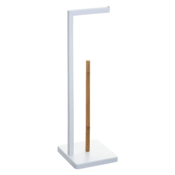 Χαρτοθήκη Δαπέδου Μεταλλική/Bamboo 20x20x64,5 cm