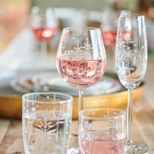 Γυάλινο Ποτήρι Κρασιού Pip Studio Ανάγλυφο 450ml