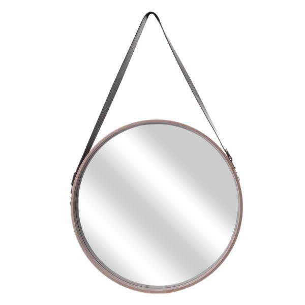 Καθρέφτης Τοίχου Στρογγυλός με Λαβή Plastic Μπεζ 65,50x4x50 cm