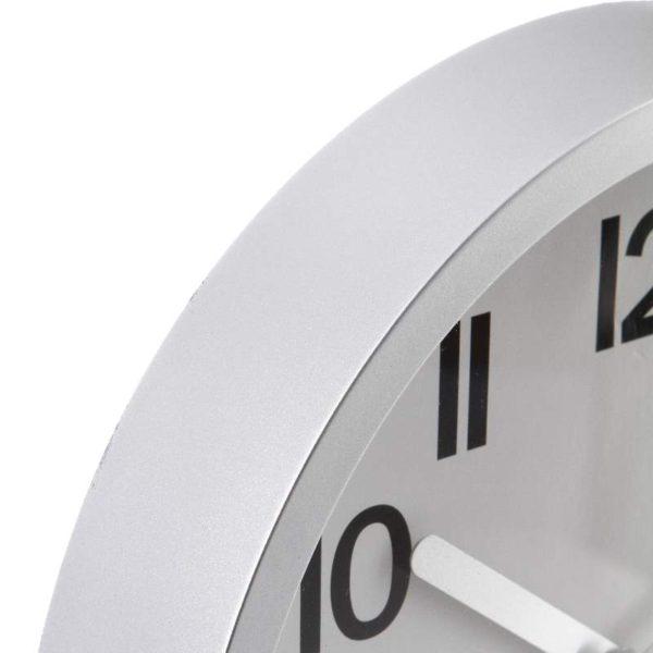 Επιτοίχιο Ρολόι Silver Plastic 22,3x3,9 cm