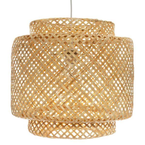 Φωτιστικό Οροφής Liby E27 Bamboo Μπεζ 40x38 cm