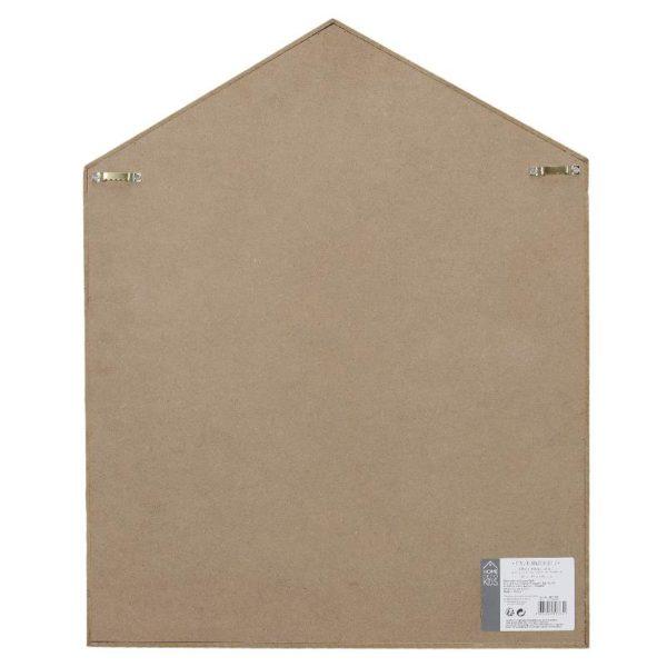 Επιτοίχιο Ραφάκι Σπίτι Ξύλινο Λευκό/Καφέ/Ροζ 54.00x10.00x40.00 cm