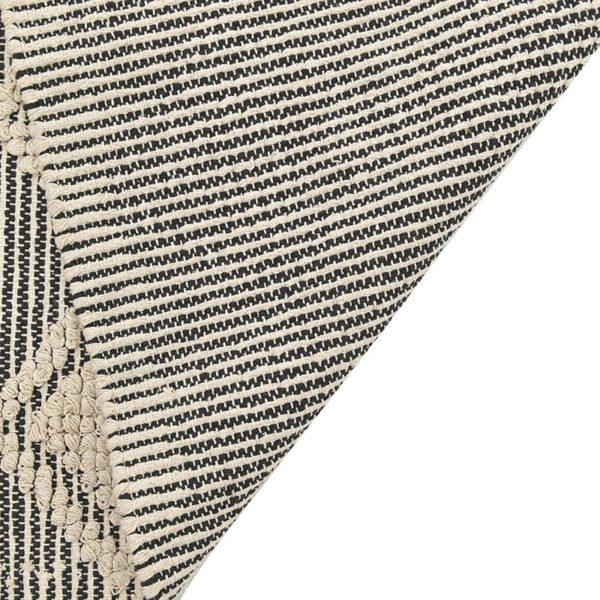 Inart Χαλί 120Χ180 Ασπρόμαύρο   Βαμβάκι
