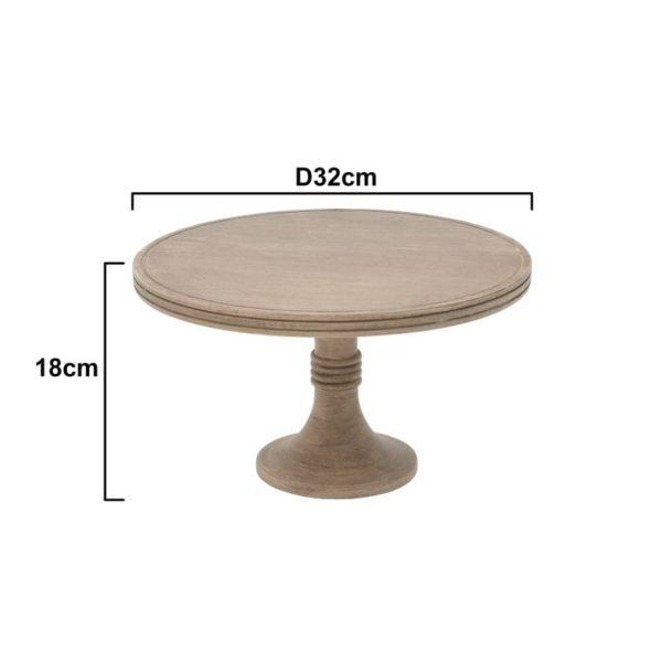 Inart Τραπέζι Σαλονιού Φυσικό μπεζ  Μάνγκο 32x32x18 cm