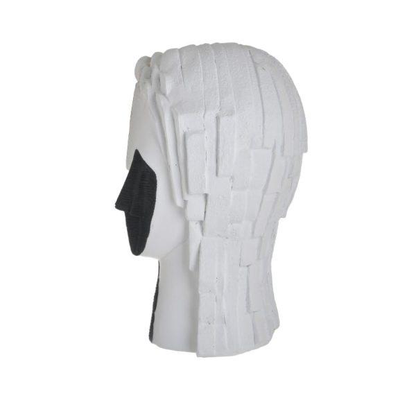 Inart Επιτραπέζιο Διακοσμητικό Λευκό-Ελεφαντόδοντο,Χρυσό,Μαύρο    Πολυρεσίνη 17x13x26 cm