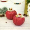 Διακοσμητική κολοκύθα Red Pumpkin small κόκκινη από πηλό 12cm